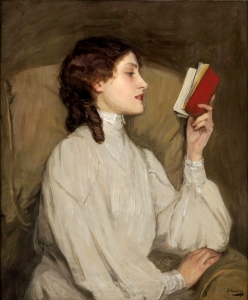 sir-john-lavery_miss_auras_the_red_book